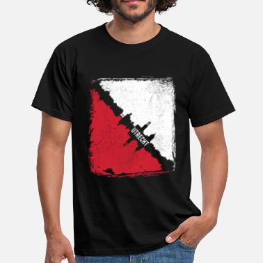 Utrecht Utrecht distressed skyline - Mannen T-shirt