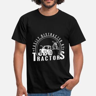 Farmer farmer - easily distracted by tractors - Men's T-Shirt