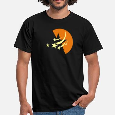 Asterisk Star moon starry sky space - Men's T-Shirt