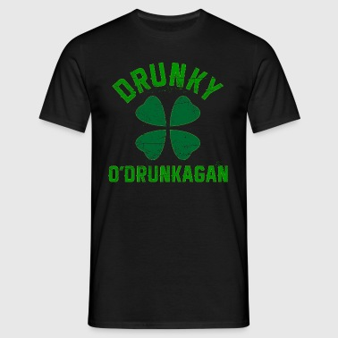 Drunky O'Drunkagan Green Grunge - Men's T-Shirt