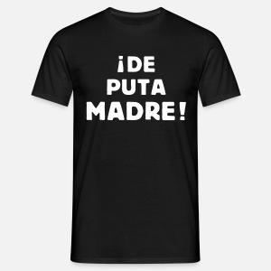 de puta madre T-shirt premium Homme   Spreadshirt eebcc06de964