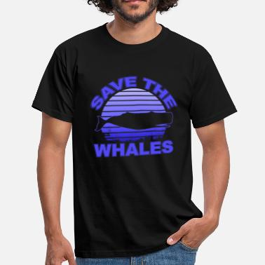 Wal Save the Whales | Rettet die Wale - Männer T-Shirt