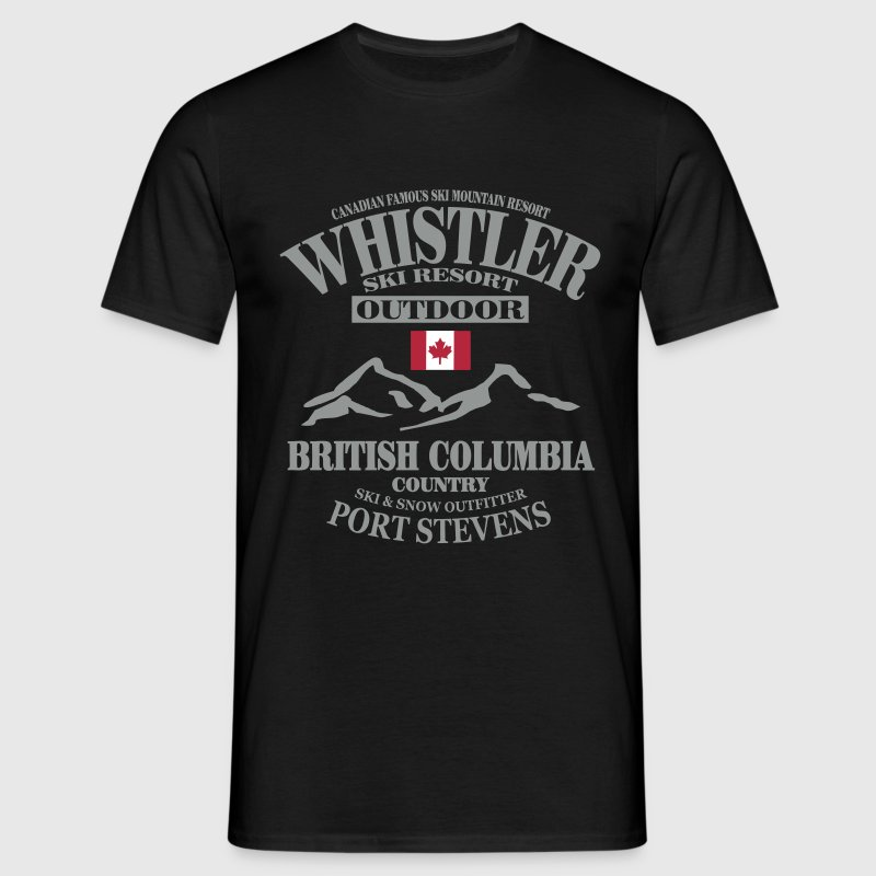 Whistler Ski Resort - Canada - Men's T-Shirt