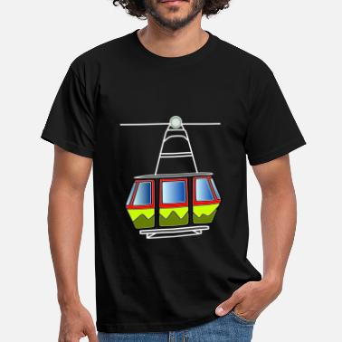 Cable Car Cable Car Gondola Cable Car Railway Mountain Railway - Herre-T-shirt