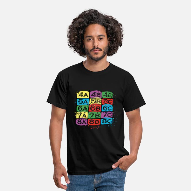 Escalade T-shirts - Cotations d'escalade colorées - T-shirt Homme noir