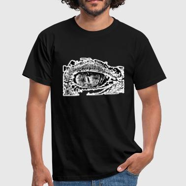 Crocodile Scales Crocodile eye crocodile reptile scales - Men's T-Shirt
