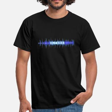 Sound Wave Sound Engine Sound Engineer Gift Audio Wave - Maglietta da uomo