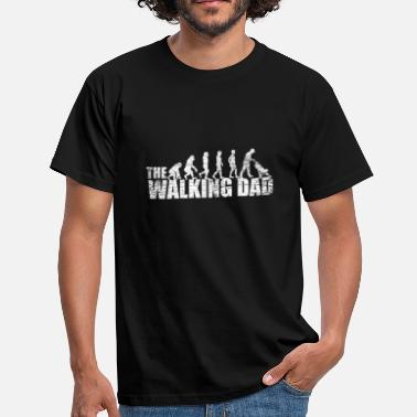 Walking The Walking pappa pappa med barnvagn - T-shirt herr