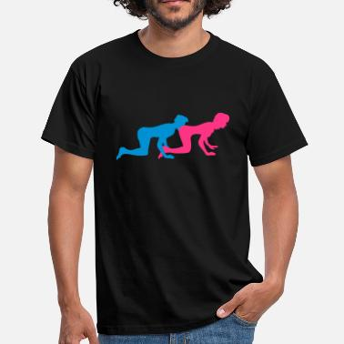 Ass Licking lick ass eat ass 2 couple couples love doggy s - Men's T-Shirt
