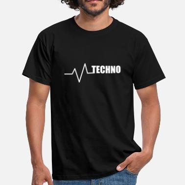 Love Parade Techno EDM Raver Trance Music House Heartbeat - Herre-T-shirt