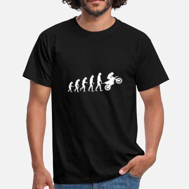 Motorbike Evolution Evolution Motorbike Motorcycle Motocross - Men's T-Shirt