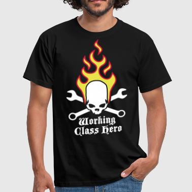 fire_skull_working_class_hero_a_3c - T-shirt herr