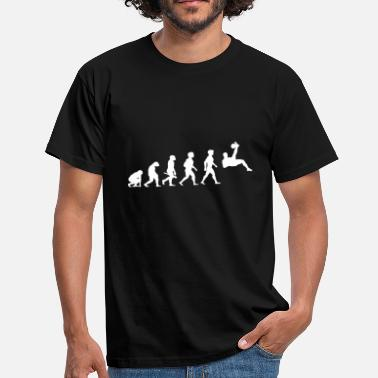 Football Evolution Evolution Football Player Football - Men's T-Shirt