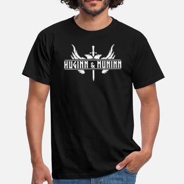 Odin Raven Huginn and Muninn Odin's Ravens - Men's T-Shirt