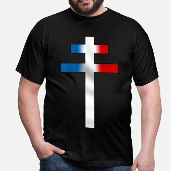 T Croix De Lorraine Shirt HommeSpreadshirt 9IYWEH2D