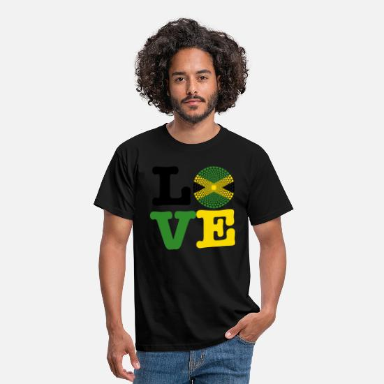 Jamaica T-Shirts - JAMAICA HEART - Men's T-Shirt black