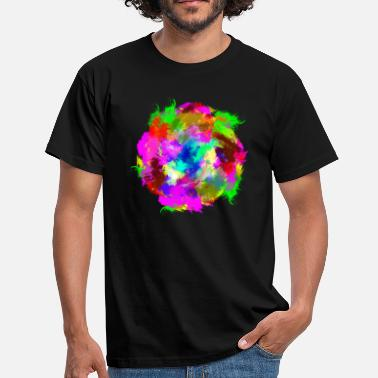 Ink Paint Color Colorful paint splash paint circle ink blob - Men's T-Shirt