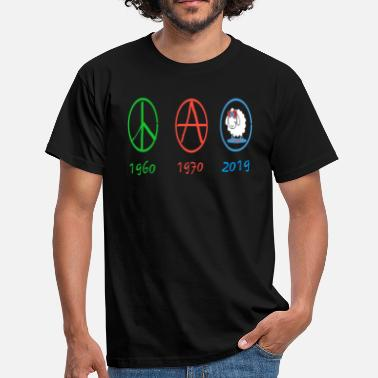 Anarchie anarchie peace and love moderne - T-shirt Homme
