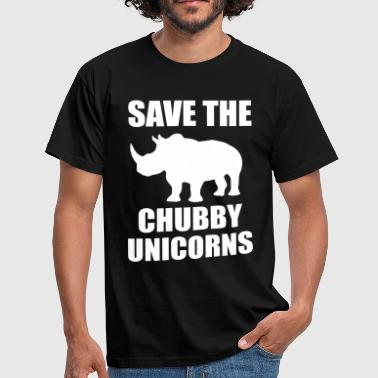 Science Geek Save The Chubby Unicorn - Men's T-Shirt