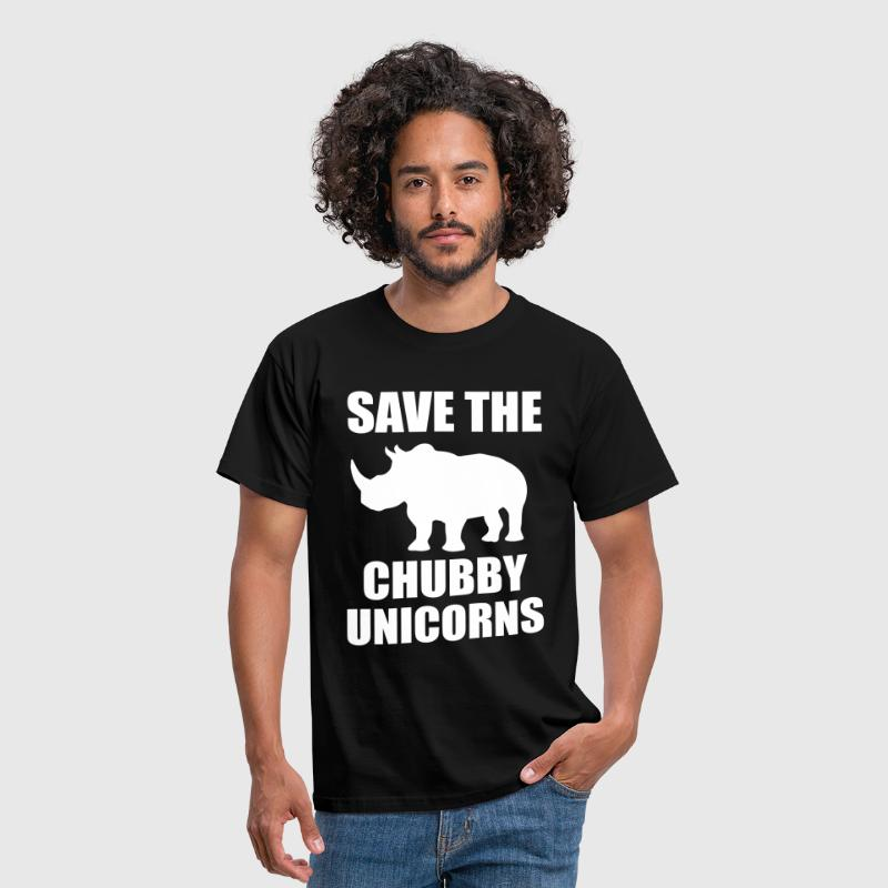 Save The Chubby Unicorn - Men's T-Shirt