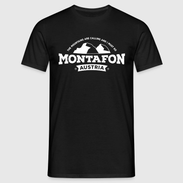 Montafon Mountains white - Männer T-Shirt