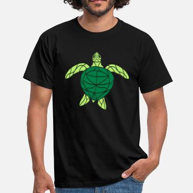 Tattoo Art turtle tortoise water turtle black - Men's T-Shirt