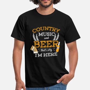Funny Country Music beer country music - Men's T-Shirt