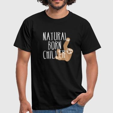 Natural Born Chiller luiaard Cool zeggen ontspant - Mannen T-shirt