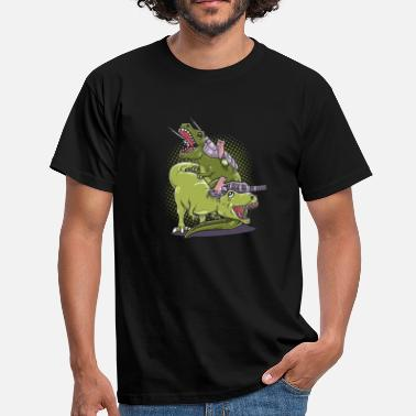 Geek Cat Tyrannosaurus T-Rex gift birthday - Men's T-Shirt