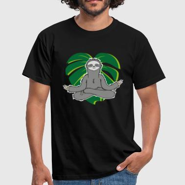 Sloth Monstera - Men's T-Shirt