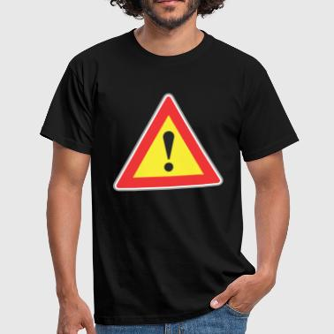 Road sign exclamatory sign - Men's T-Shirt