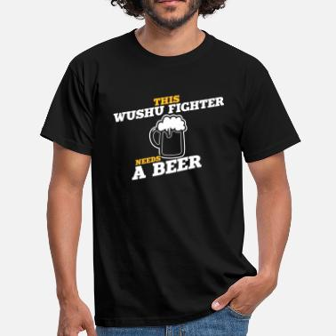 Wushu this wushu fighter needs a beer - Men's T-Shirt