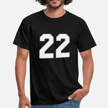 Number American football, baseball sports jersey number 22 - Men's T-Shirt