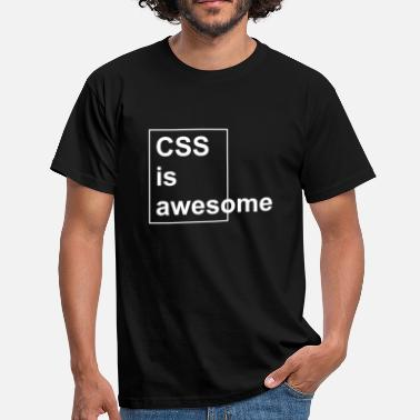 Css CSS awesome white - Männer T-Shirt