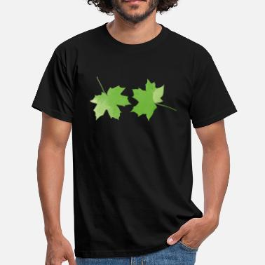 leaves leafs leaf green maple leaf - Men's T-Shirt