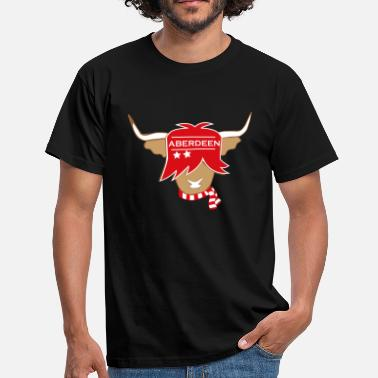 Highland Scottish highland cow Aberdeen supporter - Men's T-Shirt
