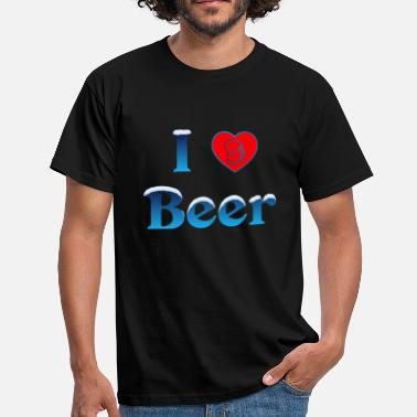 I Love Winter I Love Olut Beer Heart 6 Winter Edition - Miesten t-paita