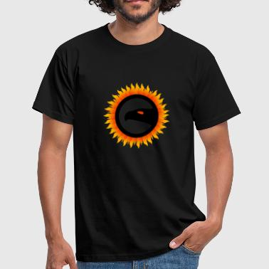 Firefighter Symbol Eagle symbol with fire - Men's T-Shirt