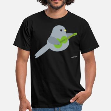Bandung Bird Playing Band Guitariste Guitariste Motiv - T-shirt Homme