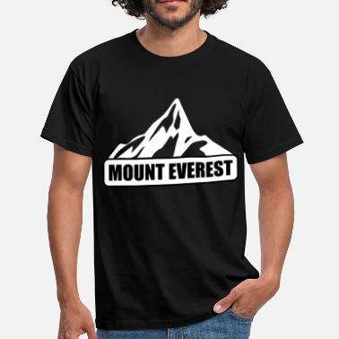 Mount Mount Everest - T-skjorte for menn