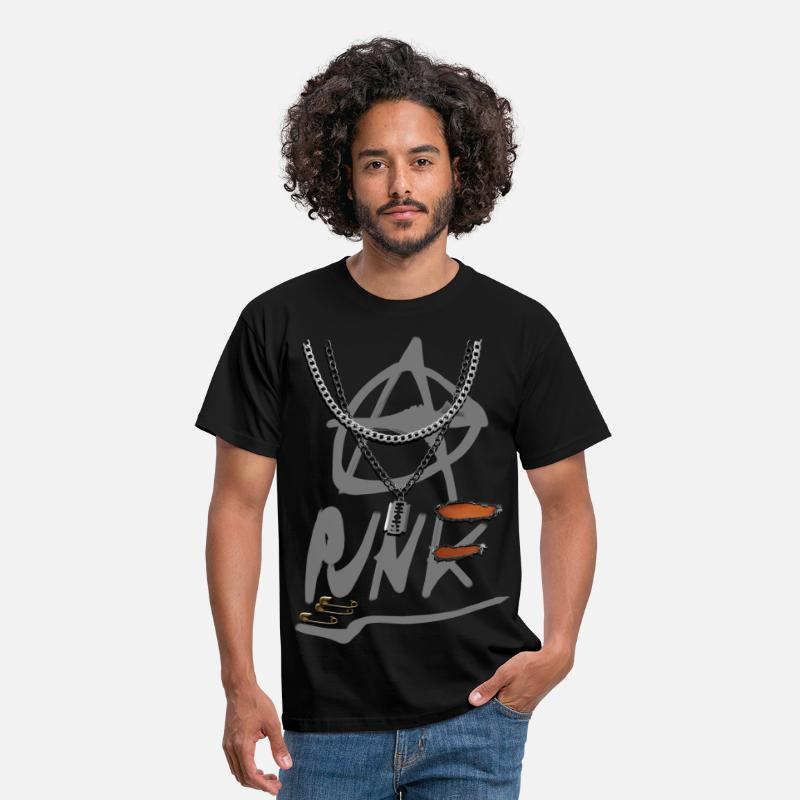 Jedi T-Shirts - anarchy punk v2 - Men's T-Shirt black