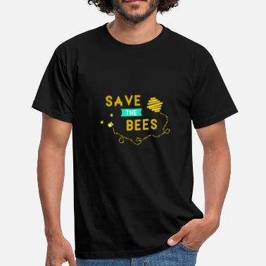 Save The Bees SAVE THE BEES dyrevelfærdsbier - T-shirt mænd