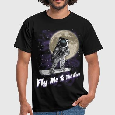 Moon snowboarder - T-shirt Homme