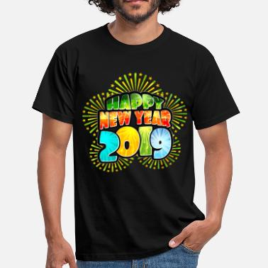 Happy New Year Happy New Year 2019 Silvester - Männer T-Shirt