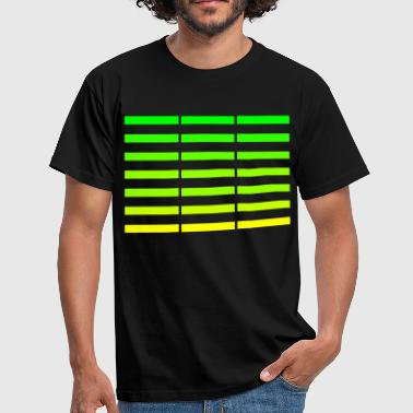 Colour Bar green-yellow bars - Men's T-Shirt