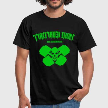 Getbig checekerd skull bright gree.png - Men's T-Shirt