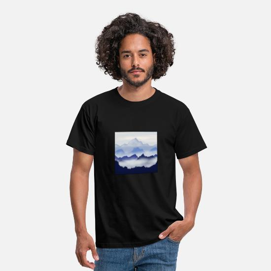 Mountains T-Shirts - Mountains - Männer T-Shirt Schwarz