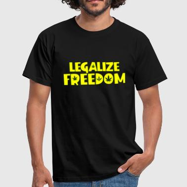 Legalize Freedom Cannabis Weed - Men's T-Shirt