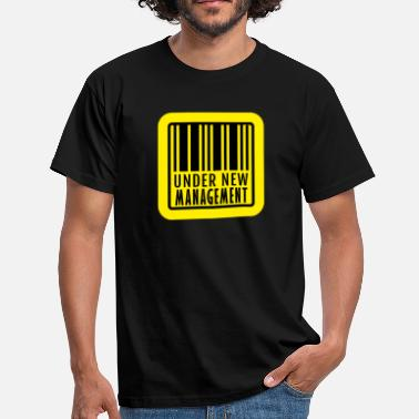 Bar Manager under new management with barcode - Men's T-Shirt