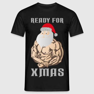 ready for xmas white - Mannen T-shirt